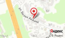 Гостиница Белая акация на карте