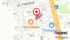 Мини-отель Дельфинчик на карте