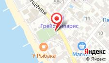 Отель Фламинго на карте