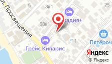 Отель Кипарис на карте