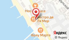 Отель Причал на карте