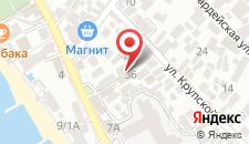 Отель АС на карте