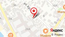 Гостиница Рица на карте