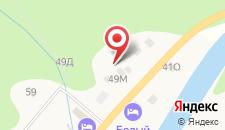 Отель Белая река на карте