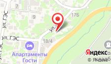 Апартаменты Лофт в Красой Поляне на карте
