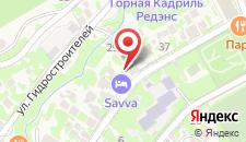 Отель Савва на карте