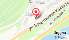 Коттедж в Красной Поляне на карте