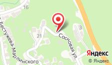 Гостевой дом на Сосновой 23 на карте