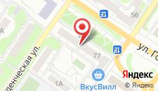 Апартаменты 2х комнатная квартира в центре Владимира на карте