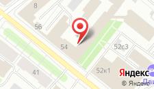 Отель Двина на карте