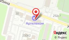Гостиница Артелеком на карте