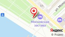 Гостиница Московская Застава на карте