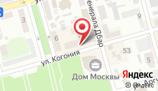 Апартаменты На Когония на карте