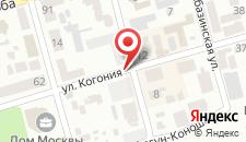 Апартаменты На Когония 62 на карте