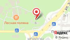 Отель Лесная поляна на карте