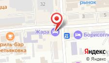 Гостиница Жара на карте