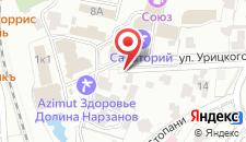 Гостиница Долина Нарзанов на карте