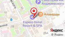 Гостиница Espero на карте