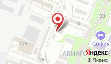Гостиница Вираж на карте