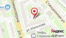 Гостиница Зори Сормовские на карте