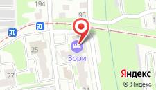 Гостиница Зори на карте