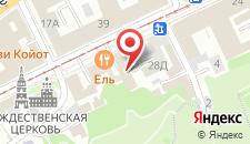 Гостиница Волга на карте