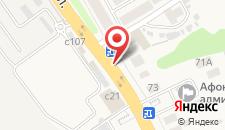 Гостиница Афоня на карте