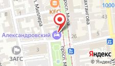 Гостиница Александровский на карте