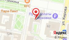 Отель Россия на карте
