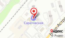 Гостиница Саратовская на карте
