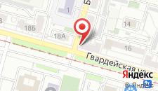 Гостиница На Гвардейской на карте