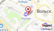 Гостиница Россия на карте