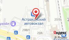 Гостиница Park Inn Астрахань на карте