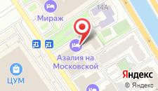 Гостиница Московская на карте