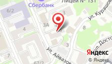 Хостел в Центре на карте