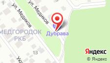 Отель Дубрава на карте