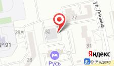 Гостиница Русь на карте