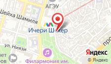 Хостел Баку на улице Геср на карте