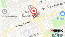 Апартаменты Старый город Баку на карте