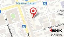 Апартаменты Баку на карте