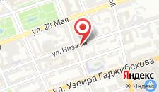 Отель Улица Низами на карте