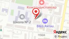 Отель B&B Актау на карте