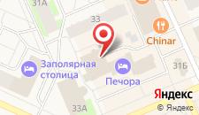 Гостиница Печора на карте