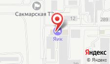 Гостиница Яик на карте