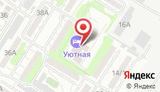 Гостиница Уютная на карте