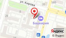 Гостиничный комплекс Башкирия на карте