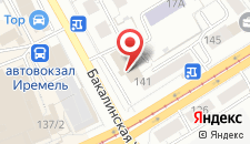 Гостиница Иремель на карте