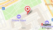 Гостиница Урал на карте