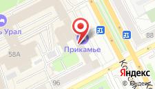 Отель Прикамье на карте
