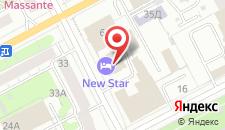 Гостиничный комплекс NEW STAR на карте